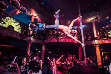 Cafe De Paris - Friday night disco cabaret show and nightclub entry - Save 50%