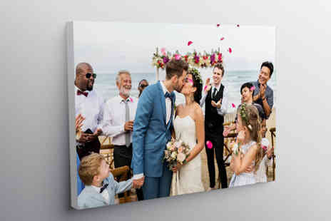 Deco Matters - A2 personalised photo canvas - Save 83%