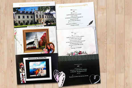 uPhotogifts - Set of 32 personalised A6 photo invitations with envelopes - Save 40%
