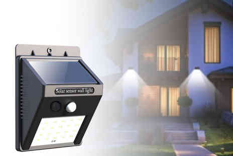 Backtogoo - One outdoor motion activated solar Led light  - Save 73%