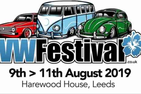 VW festival - One adult and one child day ticket on 10th August - Save 27%