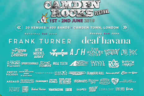 Camden Rocks Festival - Day ticket to Camden Rocks festival or weekend ticket choose from over 400 acts including Frank Turner, Dead Havana and The Pigeon Detectives - Save 0%