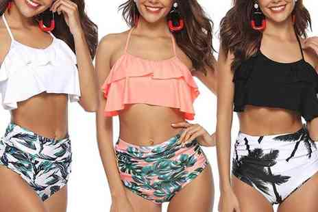 Boni Caro - High waist contrasting bikini set - Save 77%