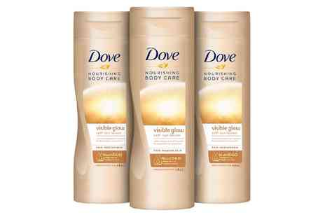 Groupon Goods Global GmbH - 3, 6 or 12 Dove Nourishing Body Care Visible Glow Self Tan Lotions - Save 0%