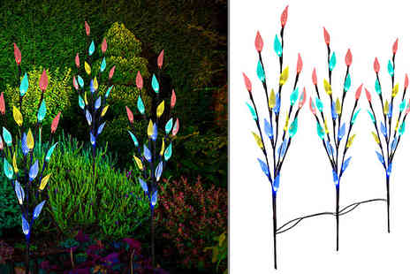Home Season - Solar Powered Led Leaf Branch Tree Choose two Colours - Save 53%