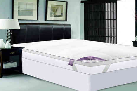 Direct Warehouse - Goose Feather Mattress Topper Available in Five Sizes And Two Thicknesses - Save 40%