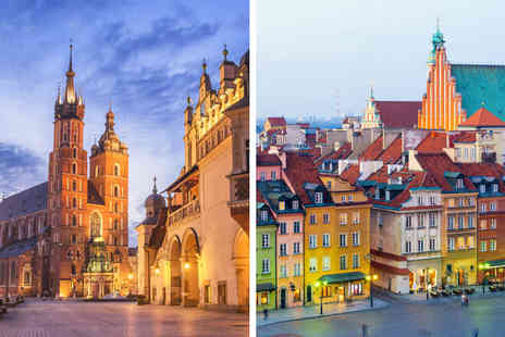 Weekender Breaks - Four nights Krakow and Warsaw escape with flights - Save 23%