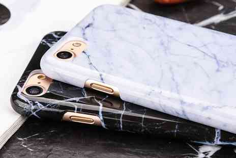 Groupon Goods Global GmbH - One or Two Marble Cases for iPhones 5s, 6, 6s, 6 Plus, 6s Plus, 7, 7 Plus - Save 0%