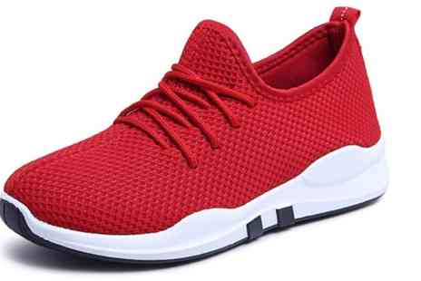 Groupon Goods Global GmbH - One Pair of Womens Breathable Mesh Sneakers in Choice of Colour and Size - Save 0%