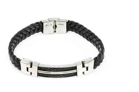 Victorias Candy - Mens faux leather bracelet - Save 85%