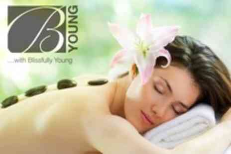 Blissfully Young - Hot Stone Massage and 75 Minute Deluxe Pedicure - Save 60%
