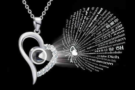 Litnfleek - 100 languages I love you necklace choose from three designs and two colours - Save 60%