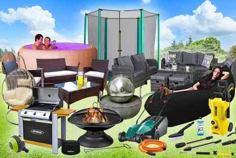 HCI Distribution - Garden mystery deal rattan sofa sets, Bosch lawnmower, Karcher jet wash, Bestway hot tub, Veho speakers and more - Save 0%