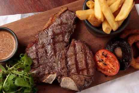 Five at Southam - Two Course Steak Meal with Hot Drink for Two or Four - Save 56%