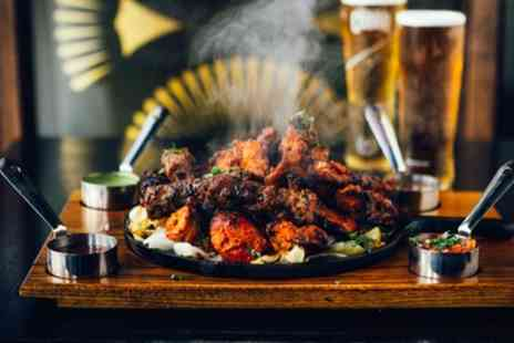 King Arthur - Large Indian Mixed Grill with Wine or Beer for Up to Four - Save 41%
