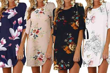 Groupon Goods Global GmbH - One or Two Summer Floral Print Shift Dresses - Save 0%