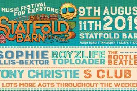 Statfold Barn Festival - One child, adult or family day, weekend or weekend with camping ticket from 9th To 11th August - Save 17%