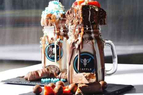 Waffle Paradise - Two Freakshakes or Sundaes - Save 25%