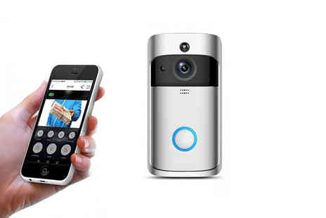 Wow What Who - WiFi security doorbell choose from black and silver - Save 79%