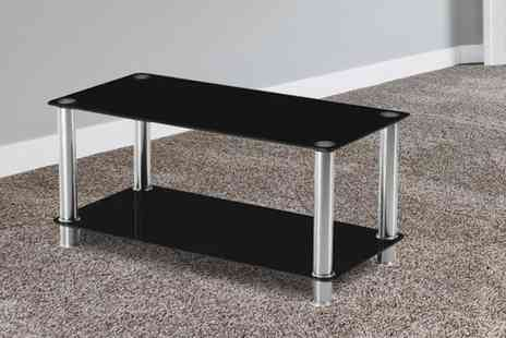 UK Furniture Zone - Milano black glass coffee table - Save 51%
