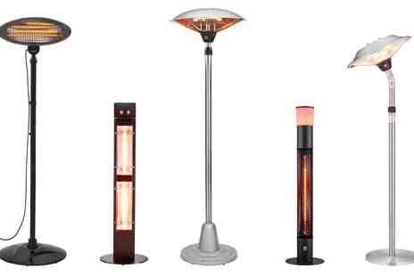 Groupon Goods Global GmbH - Garden Glow Freestanding Patio Heater with Optional Cover and Remote - Save 0%
