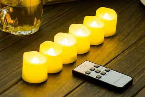 SecretStorz - Led Flickering Flame Battery Candle Choose from Pack of 1 or 2 - Save 67%