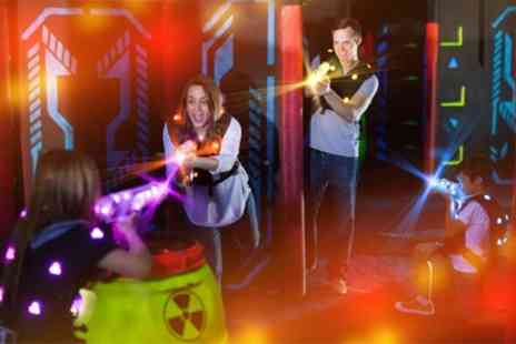 Airobounce - Two Laser Tag Games for Up to Four - Save 55%