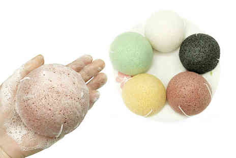 Magic Trend - Pack of five cleansing and exfoliating Konjac sponges - Save 81%