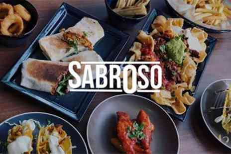 Sabroso Tex Mex - Three Course Tex Mex Meal for Two or Four - Save 40%