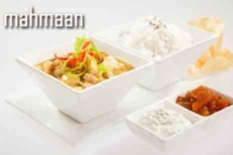 Mahmaan - Indian Fare For Two With Curry, Rice and Naan Plus Dessert and Coffee - Save 59%