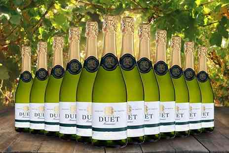 Q Regalo - Case of 12 bottles of Duet sparkling brut Spanish wine - Save 0%