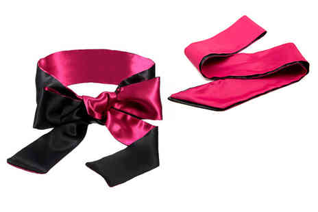 Fifty Shades of Lust - Double sided silky maroon and black blindfold - Save 72%