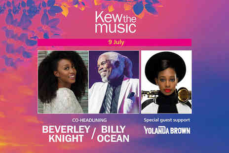 Kilimanjaro Live - Ticket to see Beverley Knight and Billy Ocean with special guest support YolanDa Brown on Tuesday 9th July - Save 57%