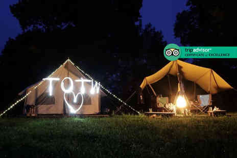 Top of The Woods Eco Camp - Two nights glamping stay for up to four with a bottle of Prosecco - Save 32%