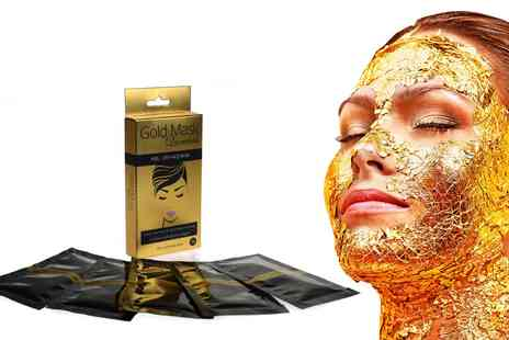 Groupon Goods Global GmbH - 5, 10, 20 or 30 Pack of Gold Peel Off Face Masks - Save 0%