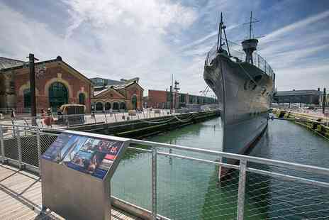HMS Caroline - Child or student ticket to HMS Caroline with a choice of either a hot drink and tray bake or a guidebook - Save 24%