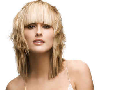 A.M Beauty Salon - Half head of highlights or a full head of colour plus a wash, cut and blow dry - Save 88%