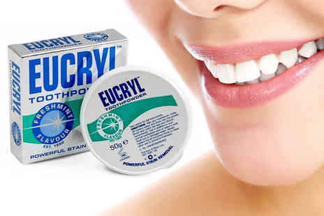 NHL Pharmacy - Three packs of Eucryl fresh mint tooth powders - Save 0%