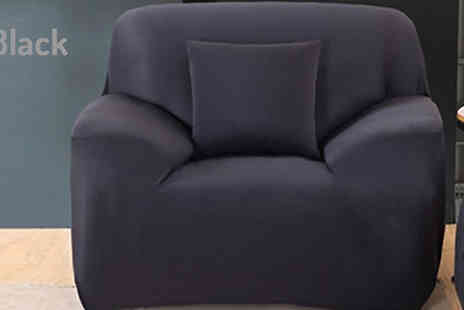 Secret Storz - Slip Over Easy Fit Sofa Cover Protector Available in Three Colours - Save 78%