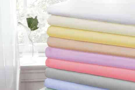 Groupon Goods Global GmbH - 180TC Cotton Rich Pastel Easy Care Fitted Sheet - Save 0%