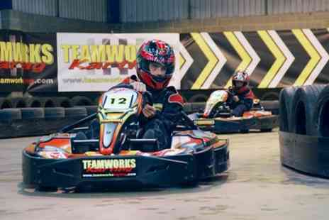 Teamworks Karting - 30 Minute Go Kart Racing for Up to Four - Save 32%