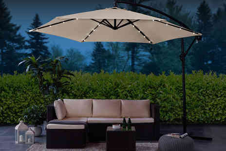 UK Furniture Zone - 3m Led parasol choose from four colours - Save 70%