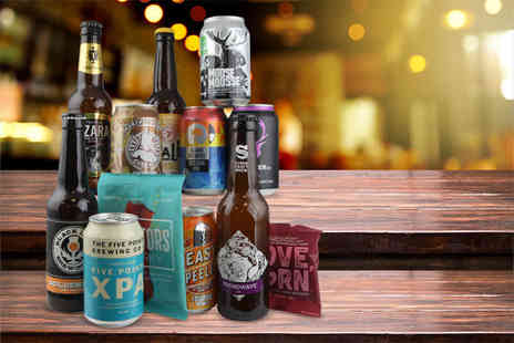 Beer52 - Craft beer hamper including a mix of ten hoppy and pale beers, Ferment magazine and a snack - Save 66%