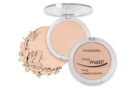 Groupon Goods Global GmbH - Phoera Sheer Matte Compact Powder Foundation - Save 0%