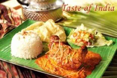Taste of India - Three Course Indian Meal For Four With Sides Plus Coffee and Liqueur Each - Save 66%