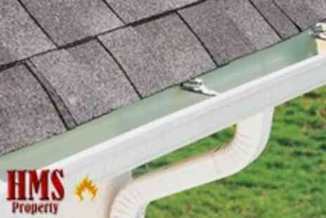 HMS Property - Gutter Cleaning and Maintenance With Downpipe Balloons - Save 69%