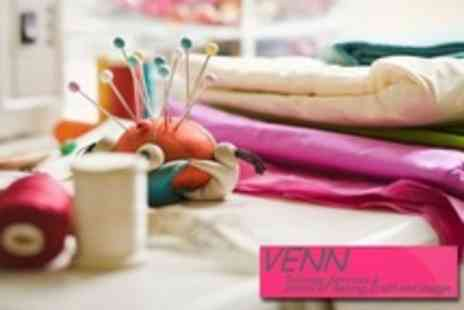 Venn School of Sewing - Sewing Workshop Choice of Sewing For Beginners or Sewing Foundations - Save 60%