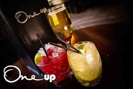 One Up - Four mix and match cocktails with nibbles for two people - Save 57%