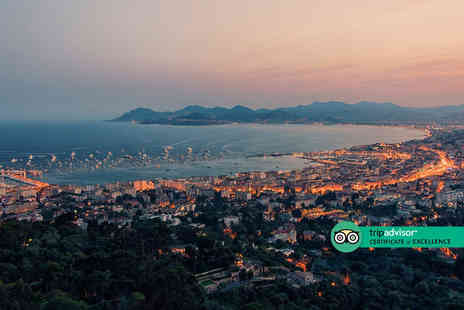 Bargain Late Holidays - Four Star Escape with a two, three, four, five or seven nights getaway to Cannes Now with the ability to choose your flight - Save 0%
