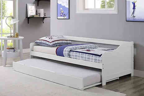 UK Furniture Zone - Pine day bed and trundle - Save 67%